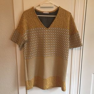 Zara yellow quilted tunic S